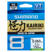 Shimano Kairiki 150 meter New Mantis Green