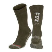 Fox Collection Green / Silver Thermo Sock