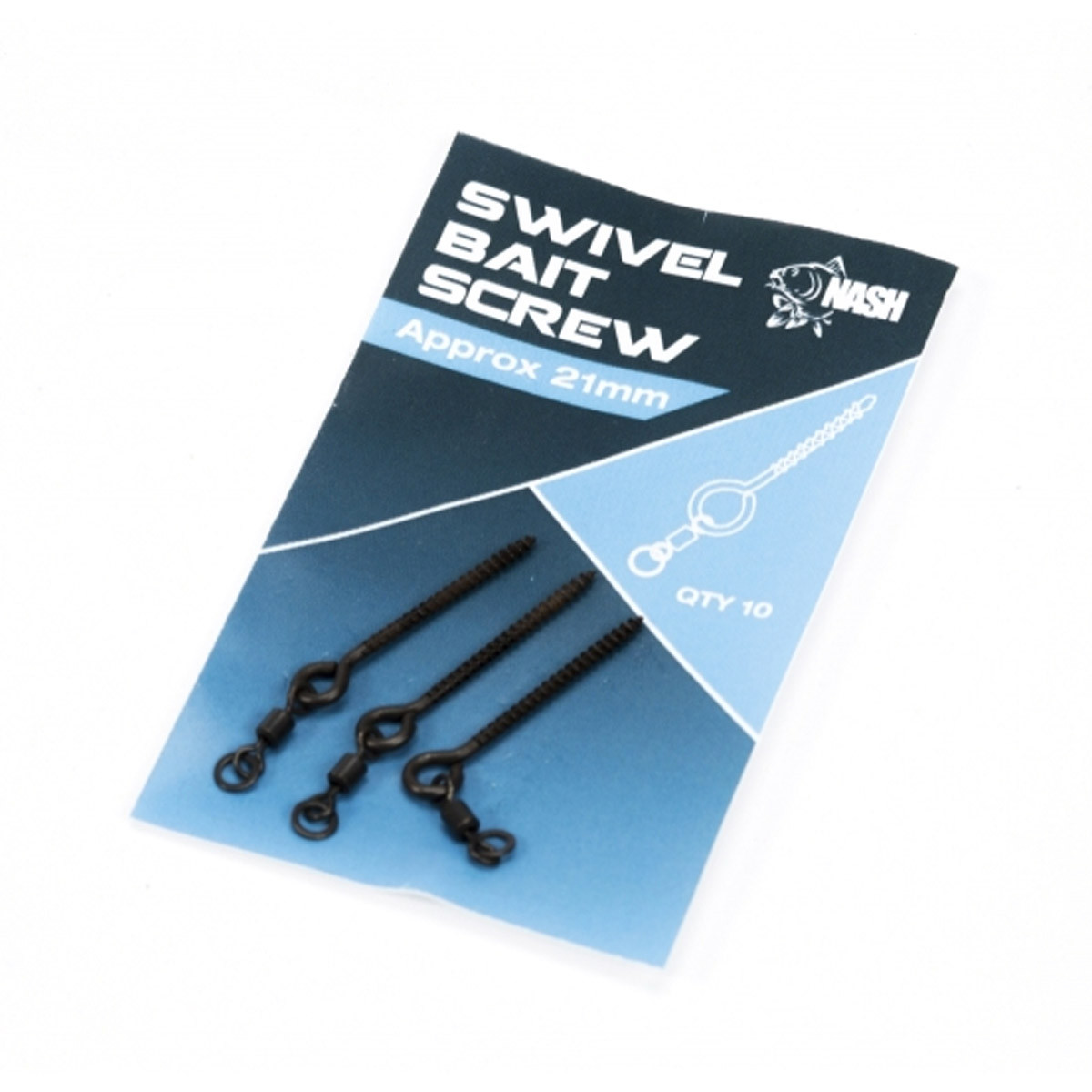 Nash 21mm metal bait screw +swivel